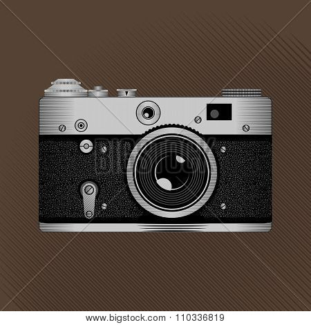 Retro film camera.