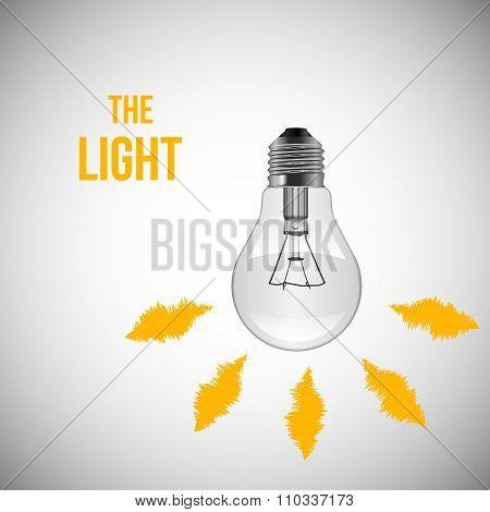 Light Bulb. Vector