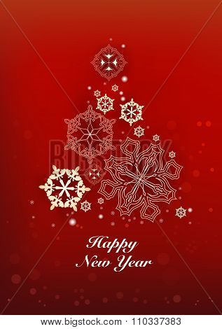 New Years And Christmas Red Background