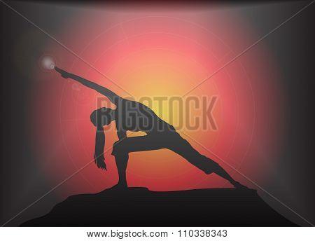 Yoga Extended Angle Pose Glare Background
