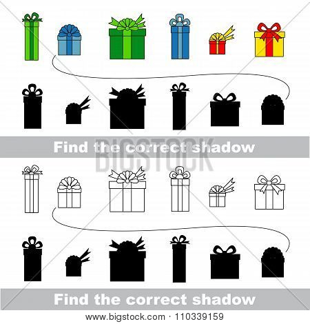 Gift collection. Find correct shadow.