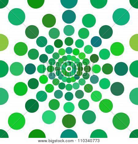 Green Dots Seamless Pattern