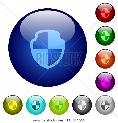 Color Shield Glass Buttons