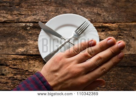 Man Shows Refusal To Eat