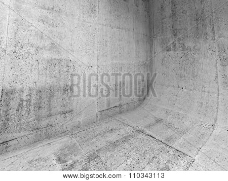 Abstract Concrete Interior With Rounded Edge