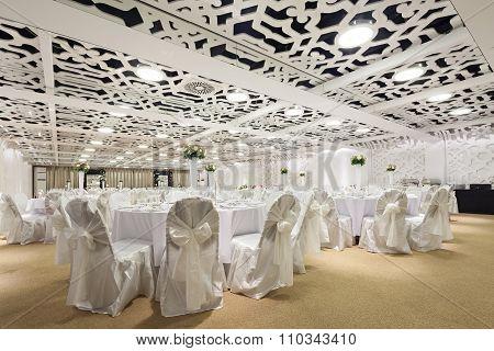 wedding ballroom set up