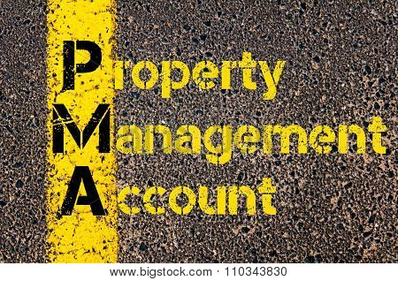 Accounting Business Acronym Pma Property Management Account
