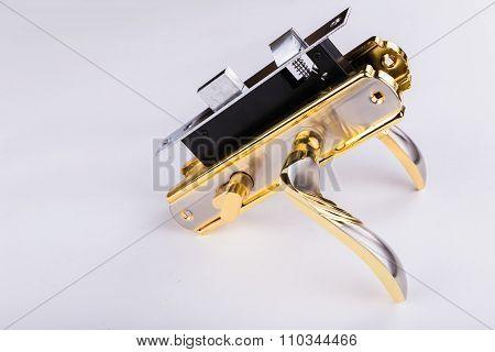 Door accessories. door lock, door handle and
