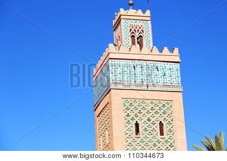 History In Maroc Africa  Minaret Palm
