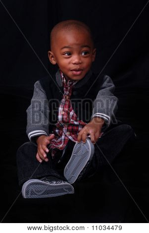 Child Posing With Funny Expression
