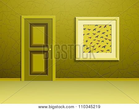 The picture and the door