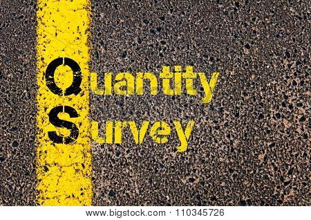 Accounting Business Acronym Qs Quantity Survey