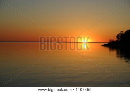 Orange Lake Sunset