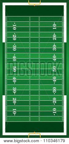 Textured Grass Vertical American Football Field