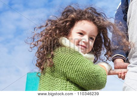 Portrait Of Girl Against Sky