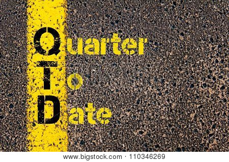 Accounting Business Acronym Qtd Quarter To Date