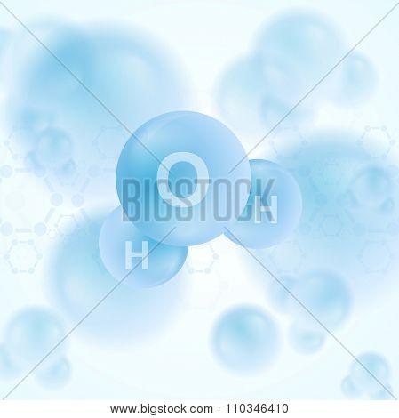 H2o water blue molecule abstract design