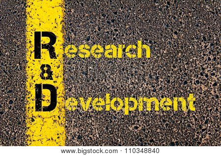 Accounting Business Acronym R&d Research And Development