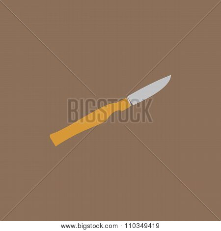 Scalpel cut flat icon, sign and button