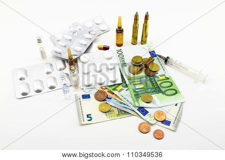 Composition With Money, Bullets, Drugs