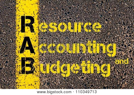 Accounting Business Acronym Rab Resource Accounting And Budgeting