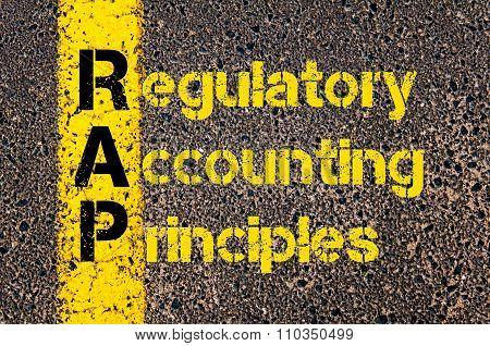 Accounting Business Acronym Rap Regulatory Accounting Principles