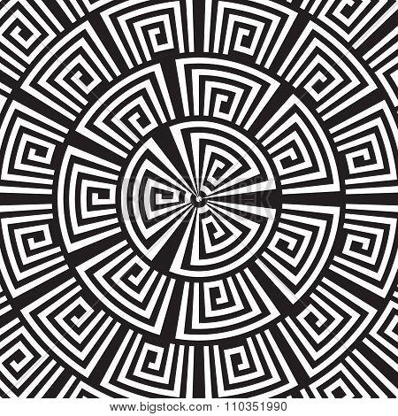 Hypnotic Background. Vector Illustration