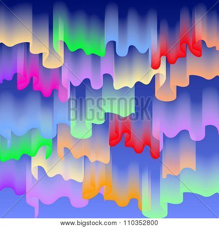 Northern Or Polar Lights, Copy-space Background, Vector Illustration