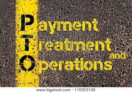 Accounting Business Acronym Pto Payment Treatment And Operations