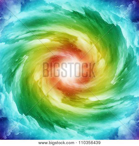 Colored Spiral Galaxy