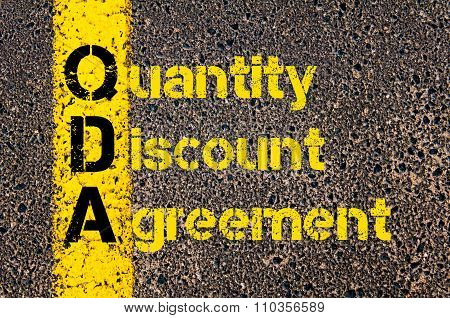 Accounting Business Acronym Qda Quantity Discount Agreement