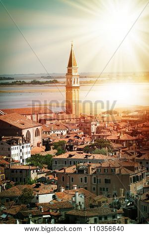 Famous St. Mark's campanile tower