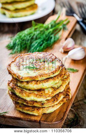 Homemade Zucchini Fritters