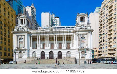 RIO DE JANEIRO, CIRCA OCTOBER 2014: City Hall in Rio de Janeiro, Brazil
