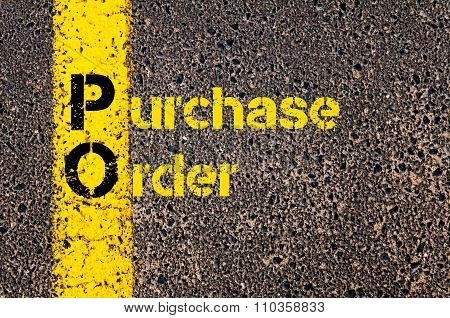 Accounting Business Acronym Po Purchase Order
