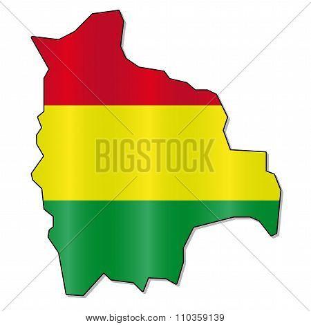 Bolivian flag map