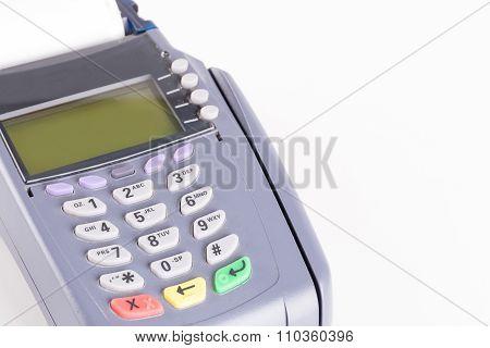 Credit Card Machine On White Background