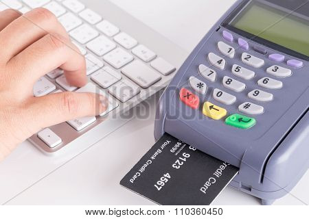 Credit Card Swipe Through Terminal For Sale In Store