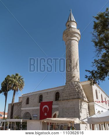 Old Marketplace Mosque Of Alacati Converted From Greek Orthodox Church. Alacati, Cesme Region, Izmir