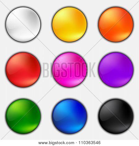 Colorful Plastic Button Set