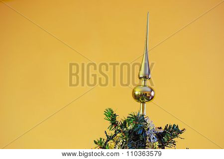 Tree Topper On A Golden Background