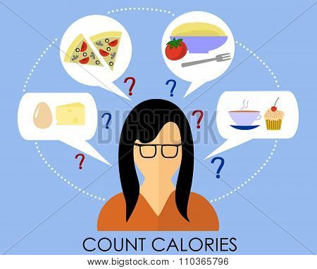 A healthy lifestyle to count calories