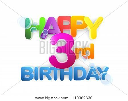Happy 3Rd Birthday Title, Light