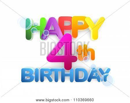 Happy 4Th Birthday Title, Light