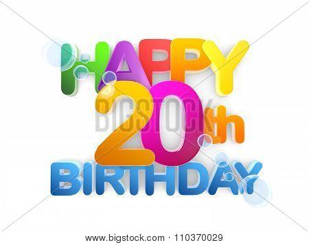 Happy 20Th Birthday Title, Light