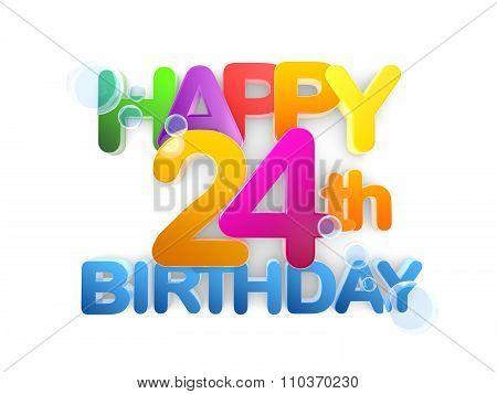 Happy 24Th Birthday Title, Light