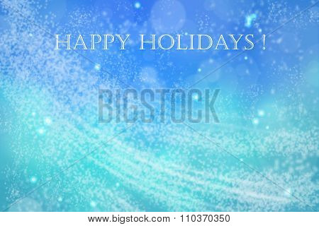 Happy Holidays Blue Space Card