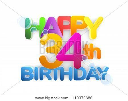 Happy 34Th Title, Birthday Light