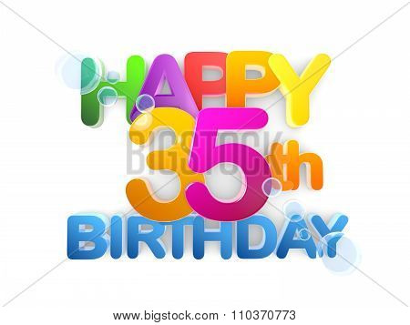 Happy 35Th Title, Birthday Light