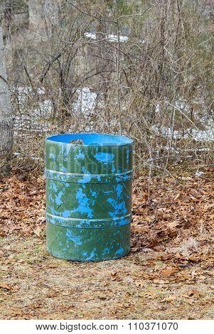 Camouflaged Rubbish Barrel